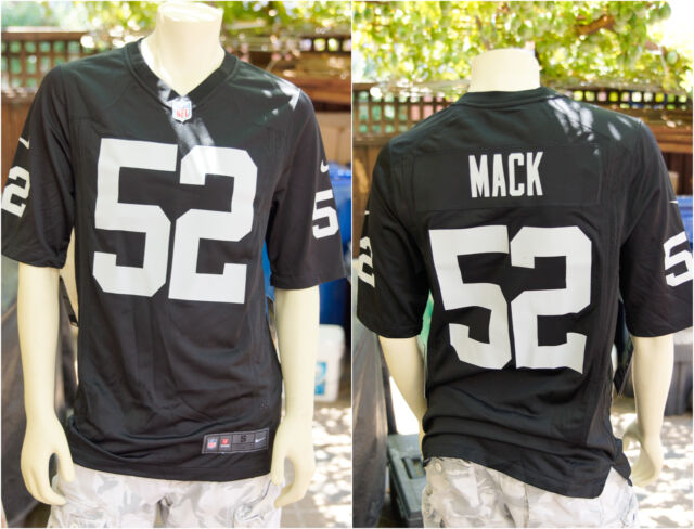 f1346b977 Authentic Nike NFL Game Edition Oakland Raiders KHALIL MACK 52 Jersey S M L  ❗