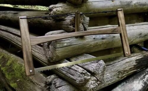 """Details about  /21""""Hand Crafted Black Walnut Folding Wood Buck Saw BAHCO Blade Bushcraft Camping"""