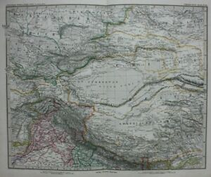 Map Of Asia Gobi Desert.Details About Original Antique Map Central Asia Gobi Desert Tibet China Stieler 1886