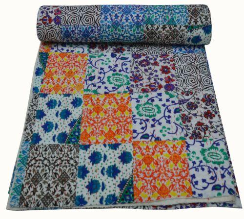 Indian Handmade Tapestry Mandala Kantha Quilt Throw Blanket Bedspread Vintage
