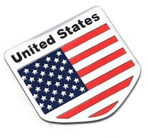Aufkleber-USA-United-States-of-America-Metall-selbstklebend-3D-Auf-Kleber-Wappen