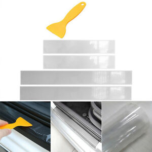 4x Einstiegsleiste Lackschutz Folie Transparent Tür Leisten Verkleidung + Rakel