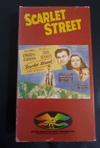 Scarlet-Street-1945-Drama-Quality-Video-VHS-Tapes-1985-Cover-OOP-RARE-Fritz-Lang
