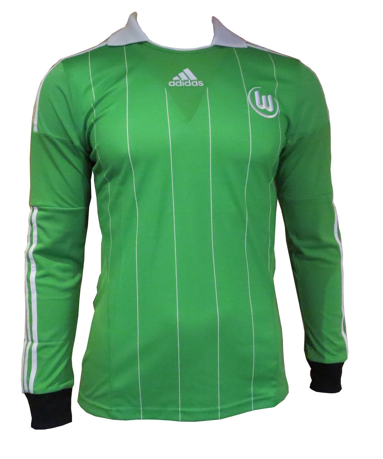 Adidas Vfl Wolfsburg Jersey [SIZE S] Long Sleeve Green G69029 Nip
