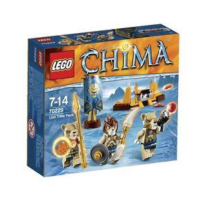 LEGO-Legends-of-CHIMA-70229-Tribu-dei-Leoni-costruzioni-PRONTA-CONSEGNA-78-pezzi