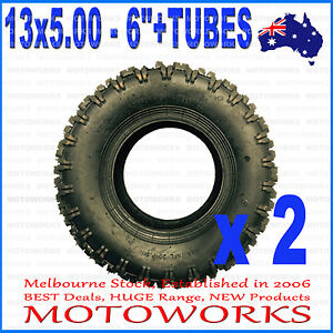 2-x-13-x-5-00-6-034-inch-Tyre-Tire-TUBE-ATV-QUAD-Bike-Gokart-Scooter-Buggy-Mower