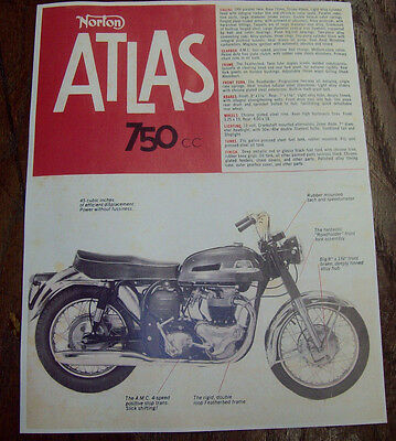 black top gas tank//rear fender transfer decal 1963-68 Norton pr. Atlas 750 c.c