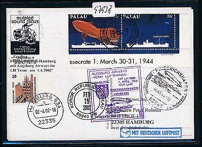 97938) Aa / Lh Ff Frdhfn - Hamburg 1.4.02, Zeppelin Nt, Kte Ab Palau