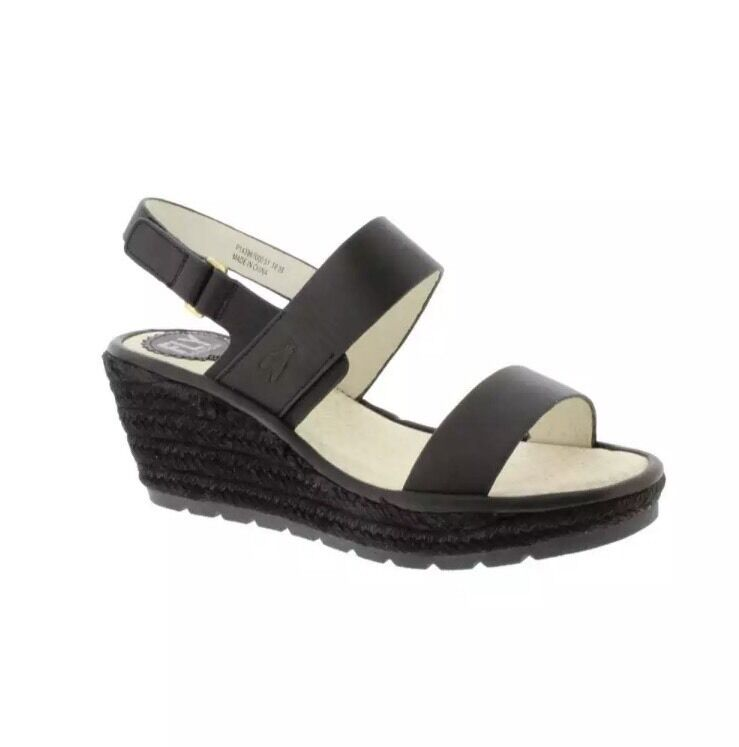 Fly London Sandalias de Cuña Ekan Negro Negro Negro Cuero Size 4/37  .00 f2d432