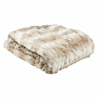 NEW Bambury Angora Faux Fur Throw