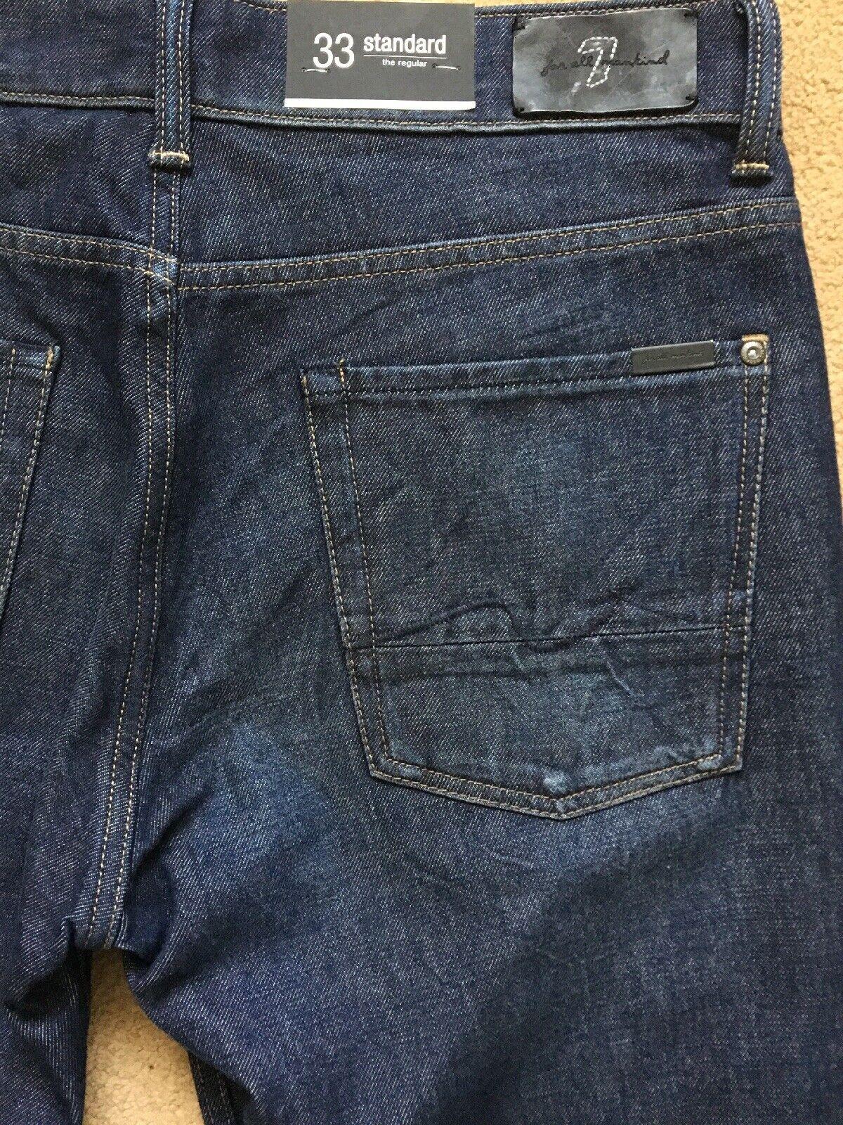 7 for All Mankind Uomo standard regolari-fit straight jeans jeans jeans blu, W33, L34, 6915a5