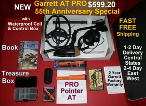 Details about Garrett AT PRO New 2019 Metal Detector with MS-2 Headphones *  Fast Free Shipping