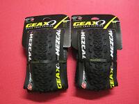 Pair Mountain Bike Knobbly Tyres Geax Mezcal Tnt 26 X 2.1 Folding Cross Country