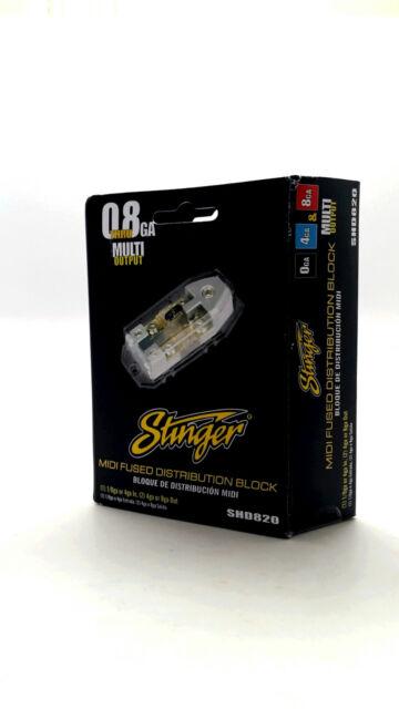 Stinger Shoc-Krome MIDI Fused Distribution Block 0 Gauge to 4 AWG SHD820
