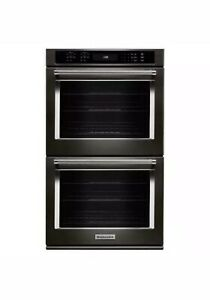 Kitchenaid 30 Quot True Convection Black Stainless Double Wall