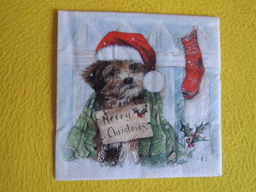 20 servilletas Navidad cachorro perrito 1 Pack OVP Navidad perros ambiente