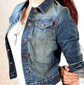 Details about Fashion DENIM JACKET Women lady Jean Jackets LADIES Cropped  Waistcoat UK S-M Hot 1e207cff96