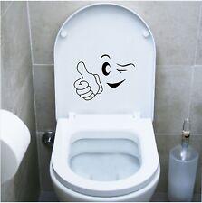 wall stickers adesivo wc sanitari bagno ok faccia occhi water toilette emoticon
