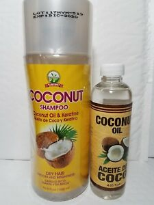 COCONUT OIL & KERATINE SHAMPOO AND COCONUT OIL FOR DRY HAIR SPECIAL PACK