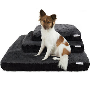 Dog-amp-Cat-Pet-Bed-Bolster-Foam-Deluxe-Bedding-Cuddler-Fluffy-Pillow-Med-Black