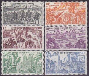 Timbres-France-Cote-des-Somalis-PA-14-a-19-neufs-C-18-Verso-amp-Descriptif