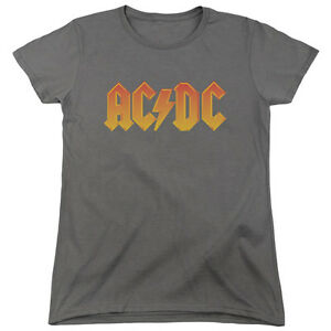 ACDC-AC-DC-Rock-Band-CLASSIC-LOGO-Licensed-Women-039-s-T-Shirt-All-Sizes