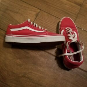 VANS Shoes ~ red/White Size 7.5   eBay