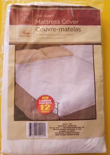 Home Collection Fitted Mattress Cover Queen Size Plastic Proctector 60x80