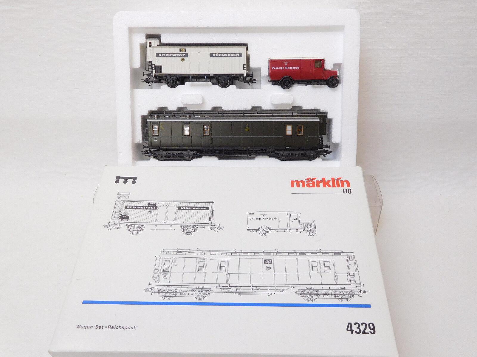 Mes-53296 Märklin 4329 h0 auto-set rico post K-un muy buen estado,