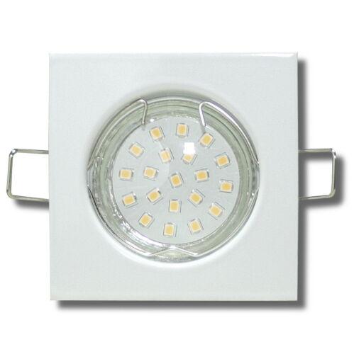 3W 230Volt Starr 5W oder 7Watt SMD LED Einbaustrahler Tim IP20 Eckig