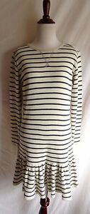 56baf5534 Polo Ralph Lauren M Navy Blue Ivory Stripe Thermal Waffle Knit Shirt ...