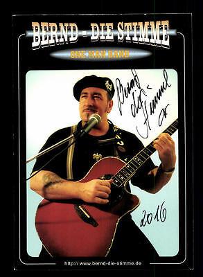Musik National MüHsam Bernd Die Stimme Autogrammkarte Original Signiert ## Bc 106327