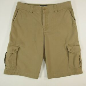 Mens-Polo-Ralph-Lauren-Khaki-Beige-Cotton-30x12-Cargo-Golf-Hiking-Shorts-MINT