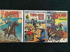 Lot of 3 Western Comics - Cheyenne Kid #72 Two-Gun Kid #117 The Outlaw Kid #17