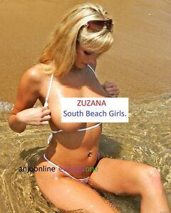 Beach Acabado Ver South Hot A4 Foto Brillante De Título Sexy Impresión Bikini Original Tamaño Detalles Micro P8nOXk0w