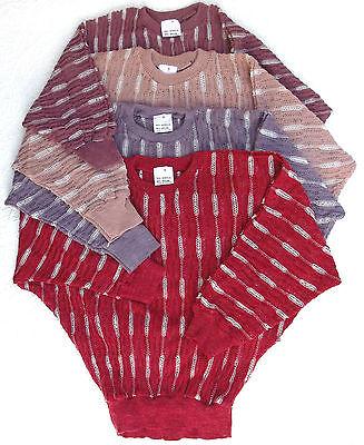 Ladies batwing jumper Vintage 1970s knitwear top UNUSED Pink Red Purple stretchy