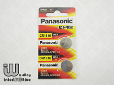 2 Pieces New in Package Panasonic CR1616 1616 ECR1616 Coin Cell Battery 3V