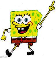 8 Spongebob Nick Jr Character Wall Sticker Glossy Border Cut Out