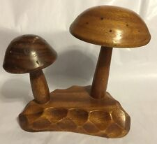 "Beautiful Vintage Wooden MUSHROOM Wood 7"" Monkey Pod Mid Century Sculpture"