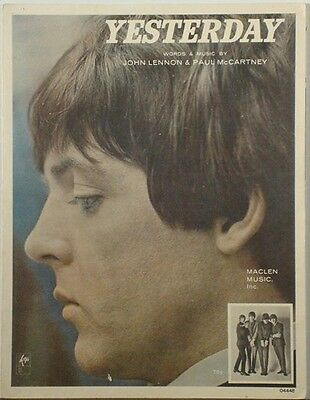 THE BEATLES - Yesterday 1965 SHEET MUSIC