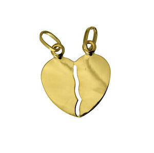 14K-Solid-Yellow-Gold-Love-Heart-Split-Charm-Pendant