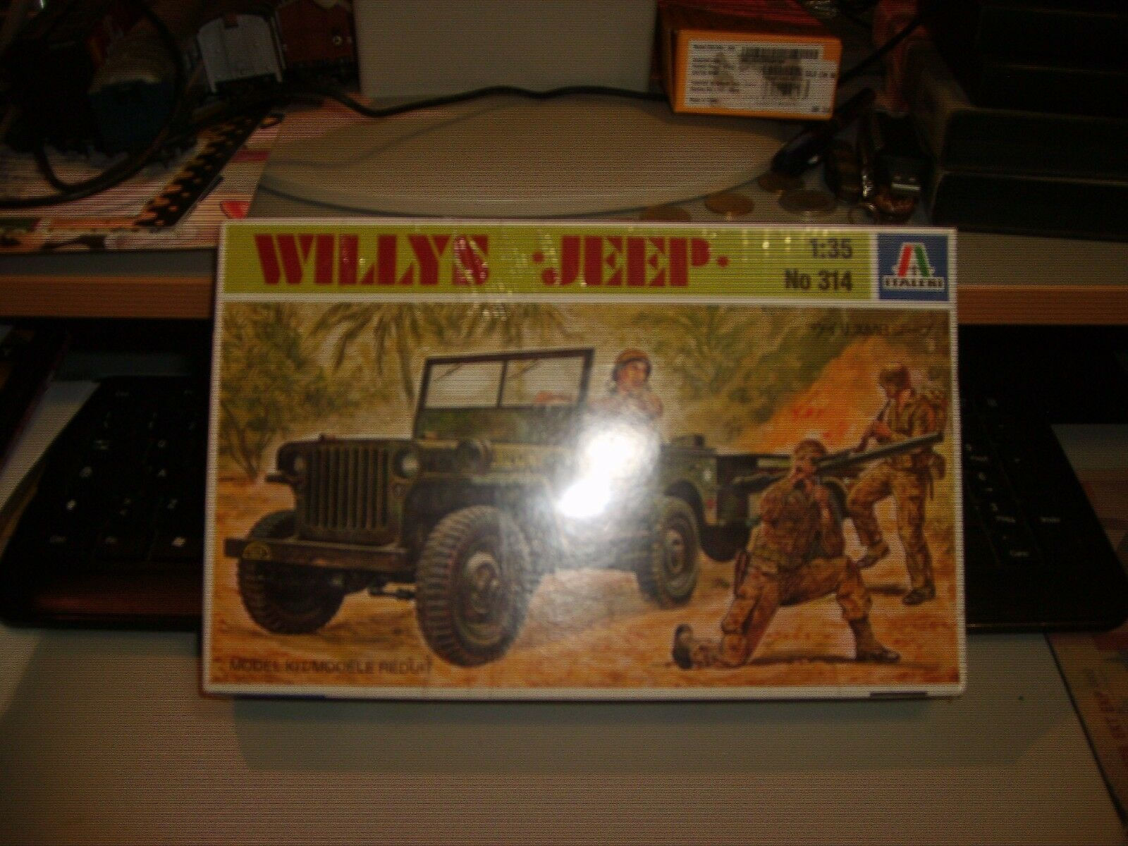 WILLYS JEEP - ITALERI No. 314 - scale scale scale 1 35 mint boxed 67e456