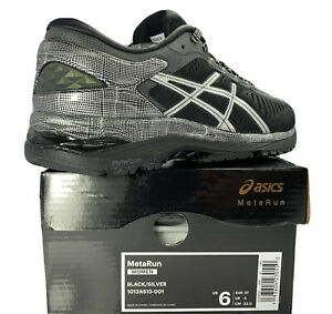 Details about ASICS METARUN Women's Running Shoes Black / Silver [1012A513-001] Size: 6 M US