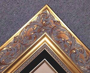 4-034-Classic-GOLD-linen-Borromini-Ornate-WOOD-Picture-Frame-1217Gb-frames4art