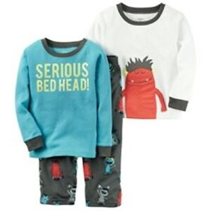 b92f4e5a1a21 Carter s Little Boys  3-Piece Long Sleeved Pajama Set
