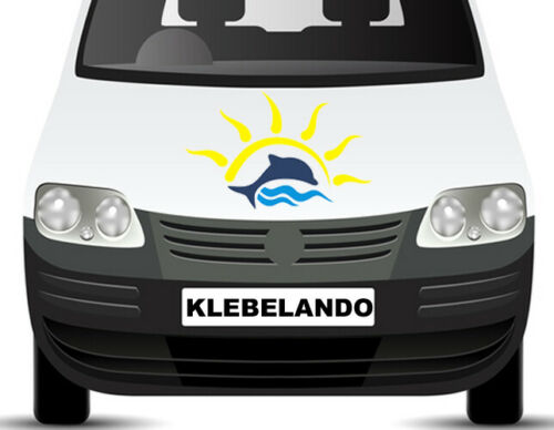 Aufkleber Delfin Sonne Meer Wasser Auto Wohnwagen Wohnmobil Caravan WC ab78 40cm