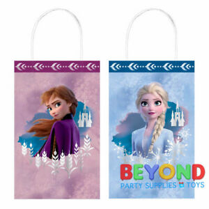 FROZEN FAVOR BAGS 8 ~ Birthday Party Supplies Disney Anna Elsa Treat Loot Sack