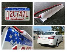 2pcs stealth car hidden hideaway license plate led lamp infrared lights