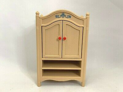 Vintage Tomy Dollhouse Furniture Armoire MISSING DRAWERS #29