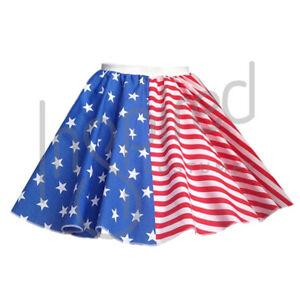 Donna-Gonna-17-034-BANDIERA-AMERICANA-FLAG-MONDO-OLIMPICO-Giorno-dell-039-indipendenza-a-strisce